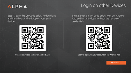 QR Code login Mobile device