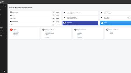 New! IPTV Middleware Admin UI