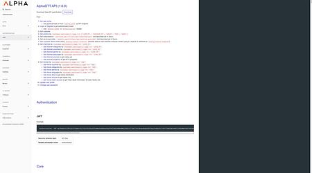 AlphaOTT API 1.0.9